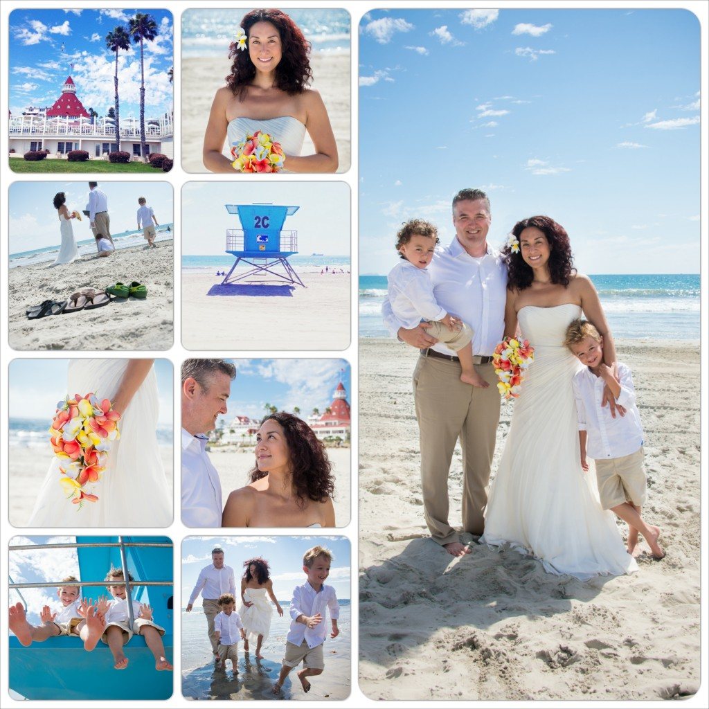 Hotel Del Coronado Beach Wedding - South Beach Coronado Island - San Diego Wedding Photographer