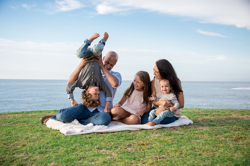 La Jolla San Diego Fall Beach Sunset Family Portraits